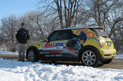 Amsoil delivery car