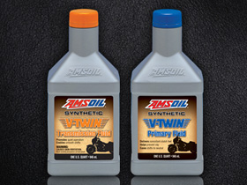 New AMSOIL Motorcycle Primary and Transmission Fluid