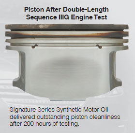 200-hour Sequence IIIG engine test for 5W-30 Signature Series