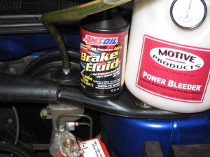 Changing to AMSOIL Brake Fluid