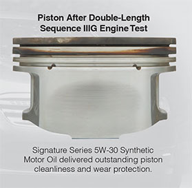 piston after double-length sequence IIIG engine test