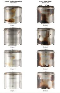 Piston ring deposits with ECHO and AMSOIL