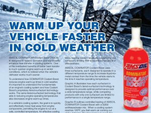 AMSOIL Coolant Boost Speeds Jeep and Engine Warm-up Times