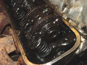 Sludge from conventional oil or bargain synthetics