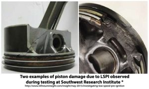 LSPI pre-ignition events can be dampened by an advanced oil