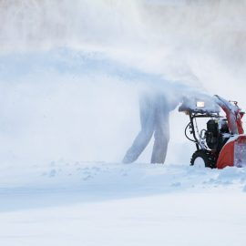 snowblower storage and ready maintenance.
