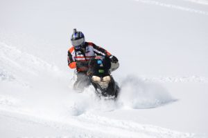 Snowmobile running AMSOIL