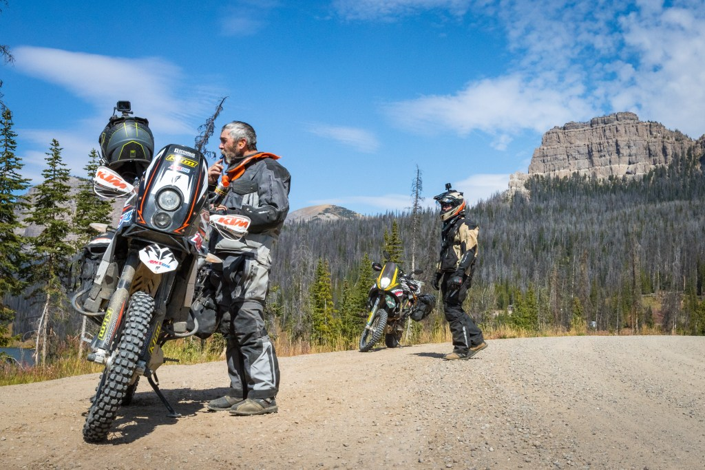 continental divide amsoil rider on motorcycle