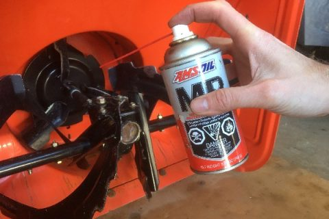 amsoil metal protector spray to protect snowblower in storage