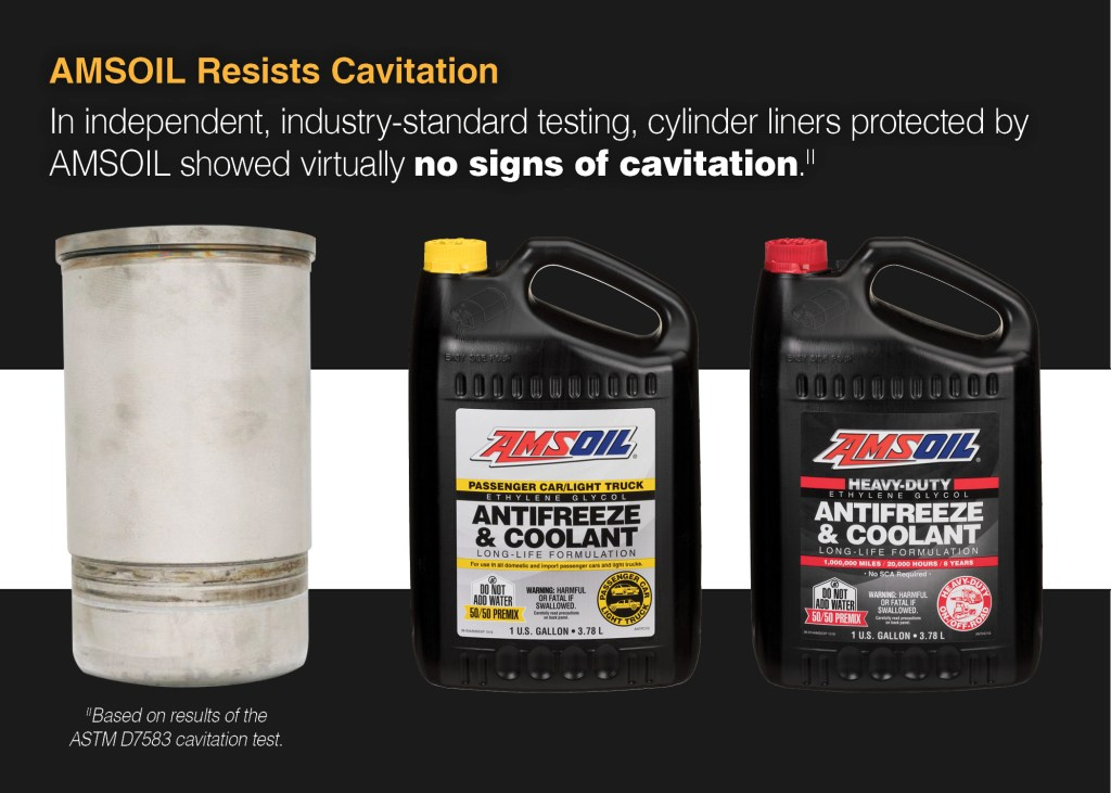 No more cavitation on cylinder liners. No additives needed.