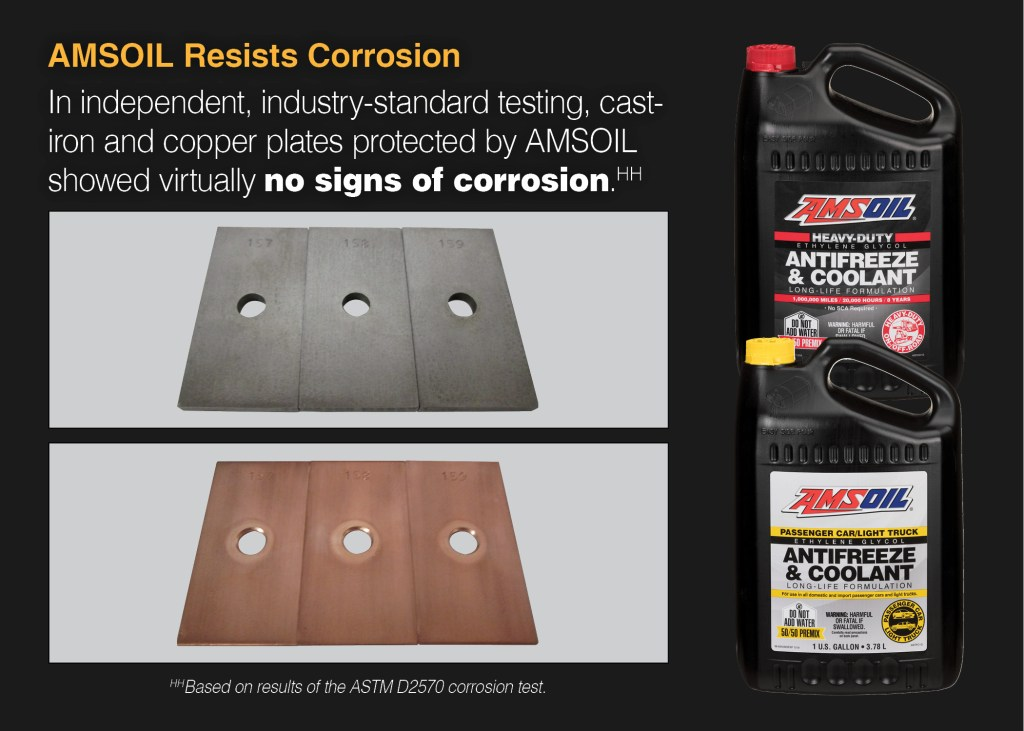 corrosion tests using Amsoil Antifreeze