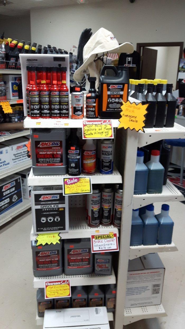 Omaha AMSOIL clearance Shelf