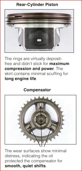 deposit free rings and oil protected the compensator